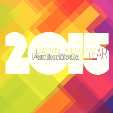 2015 happy new year colorful design