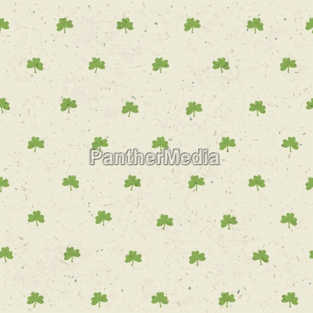 clover leaf seamless pattern on paper