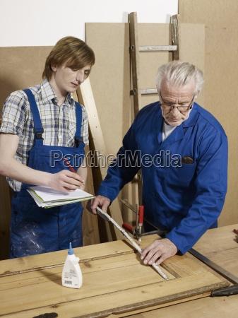 waist up workshop standing wood adults