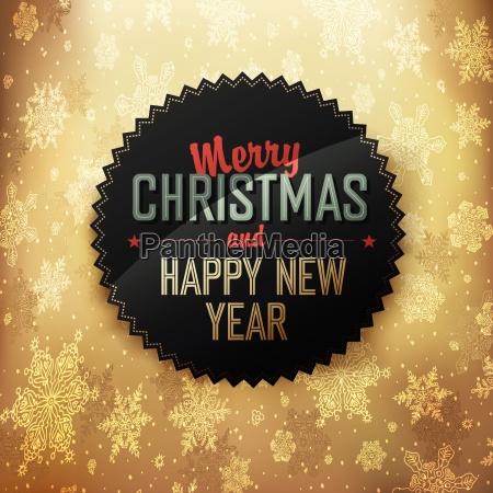 merry christmas golden card design vector