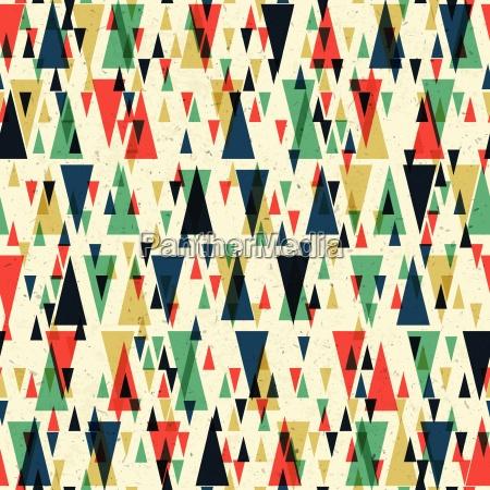 geometric retro seamless pattern vector