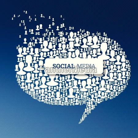 social media bubble speech concept vector