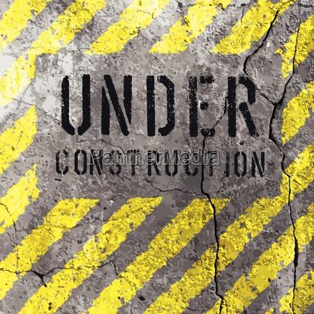 under construction illustration vector