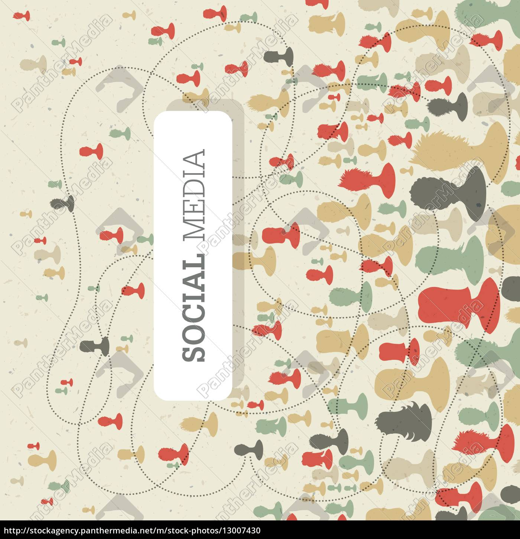 sozialkonzept, auf, recyclingpapier, textur, retro-stil., vector - 13007430