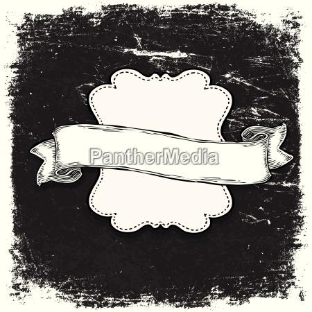 vintage grunge schwarz weiss banner vorlage