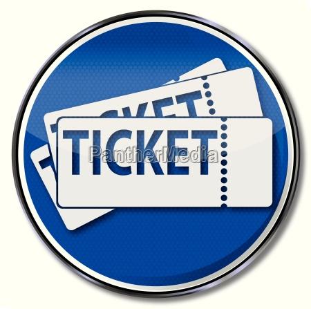 schild mit tickets