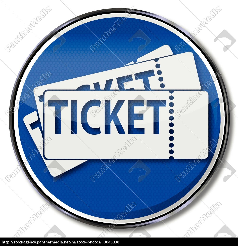 schild, mit, tickets - 13043038