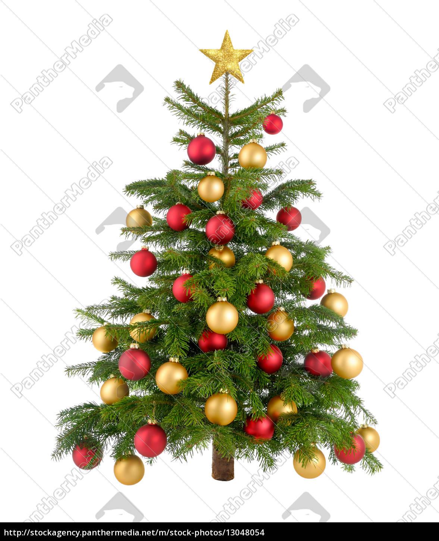 Weihnachtsbaum Rot.Stock Photo 13048054 Rot Und Gold Geschmückter Weihnachtsbaum