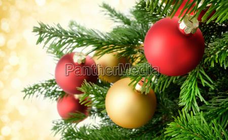 christmas balls hang smartly on the