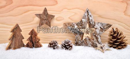 christmas arrangement made of wood