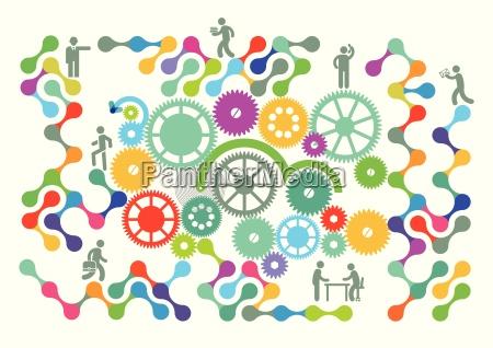 teamarbeit symbol netzwerk
