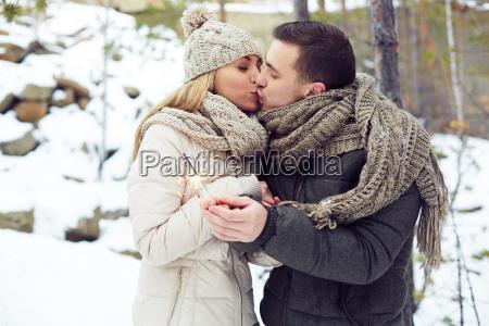 pre new year kiss