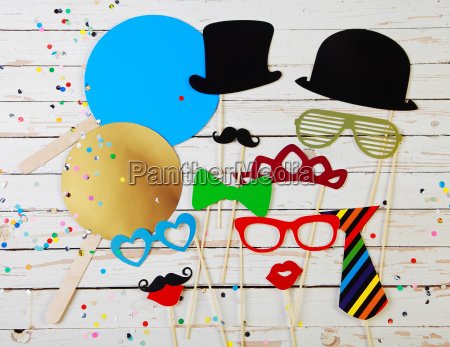 trendy party background of photo booth