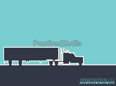 transportation company advertising background