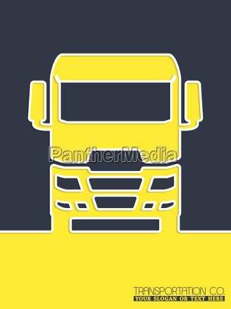 transportation brochure design with truck