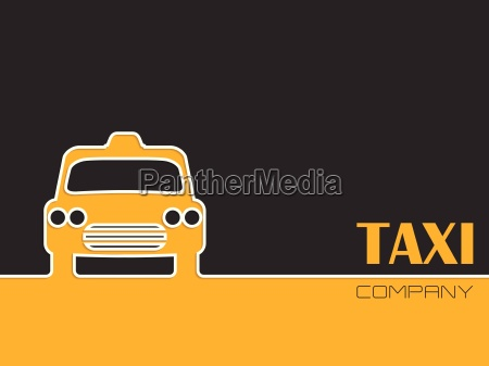 taxi company advertising with taxi cab