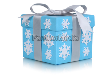 christmas with snowflakes in winter gift