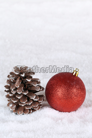 decoration at christmas with christmas bauble
