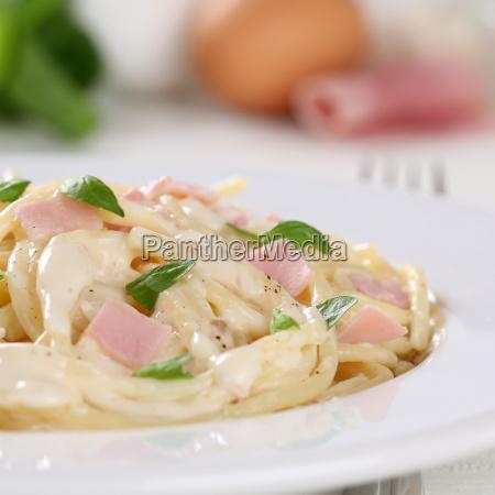 spaghetti carbonara pasta pasta dish with