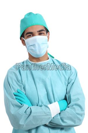 surgeon doctor posing standing with folded