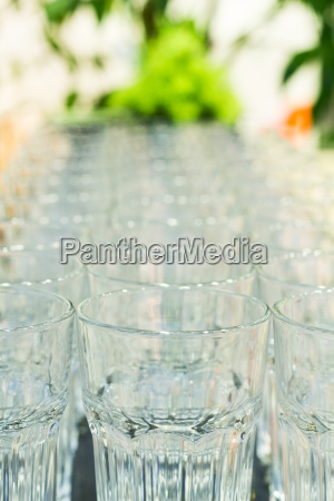 row of glass