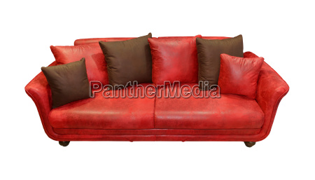 rote ledercouch