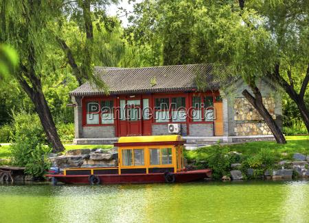 bootsbuidling canal sommerpalast peking china