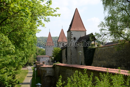 city walls in amberg
