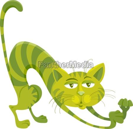 green cat character cartoon illustration