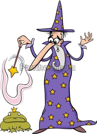 zauberer fantasy cartoon illustration