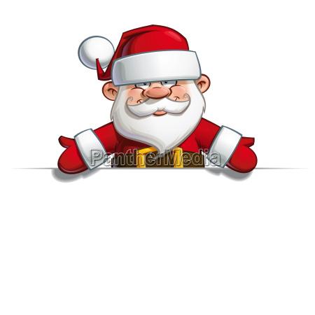 happy santa empty label open