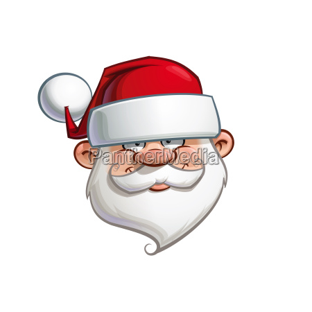 happy santa head