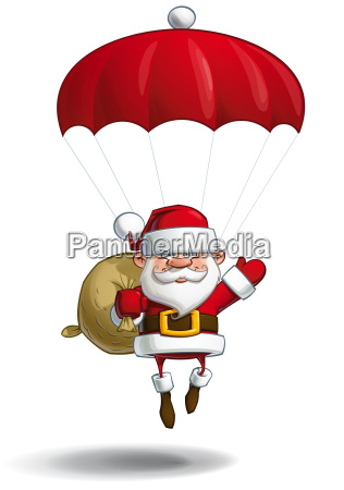 happy santa parachute sack of