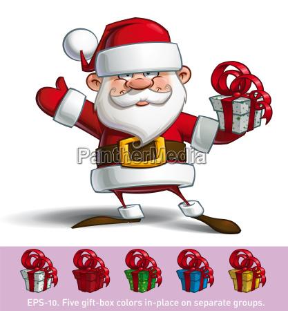 happy santa salute mit geschenke