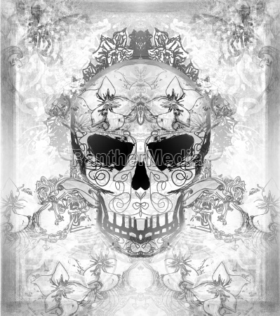 day of the dead skull with