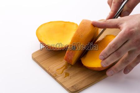hand schnitt schneiden geschnitten abschneiden teilen