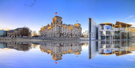 berlin reichstag as a panoramic photo