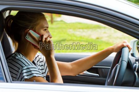 making calls while driving