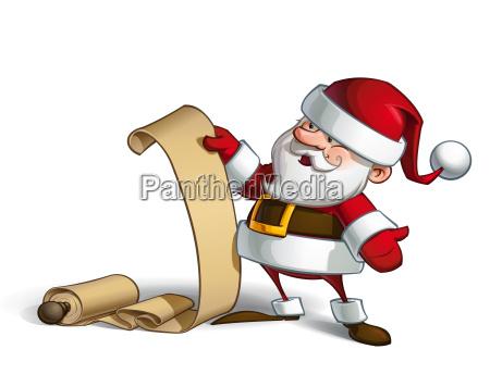 smilling santa gift scroll