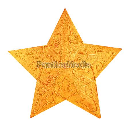 jul gylden stjerne dekoration