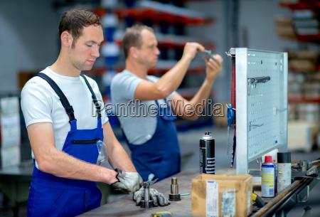 worker on work bench