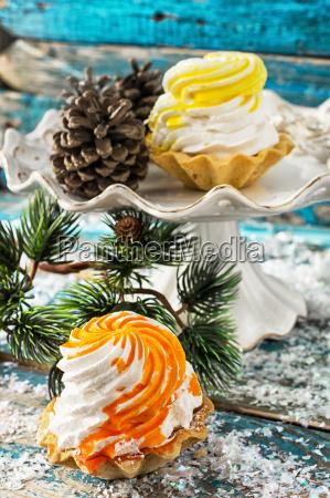 lecker christmas kuchen auf dem kuchen