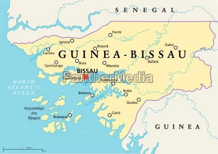 guinea bissau politische karte