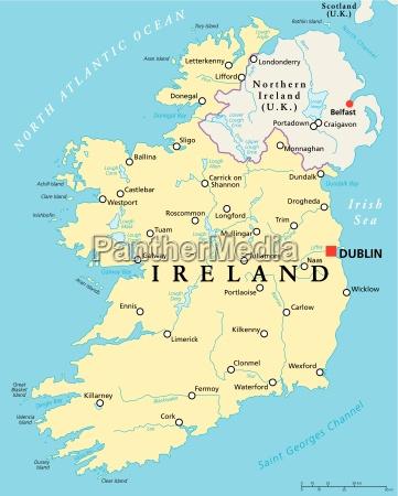 irland politische karte