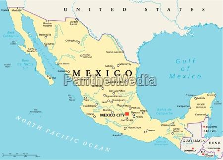 mexiko politische karte