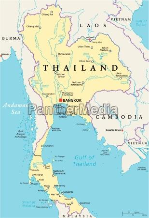 thailand politische karte