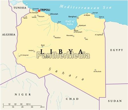 libyen political map