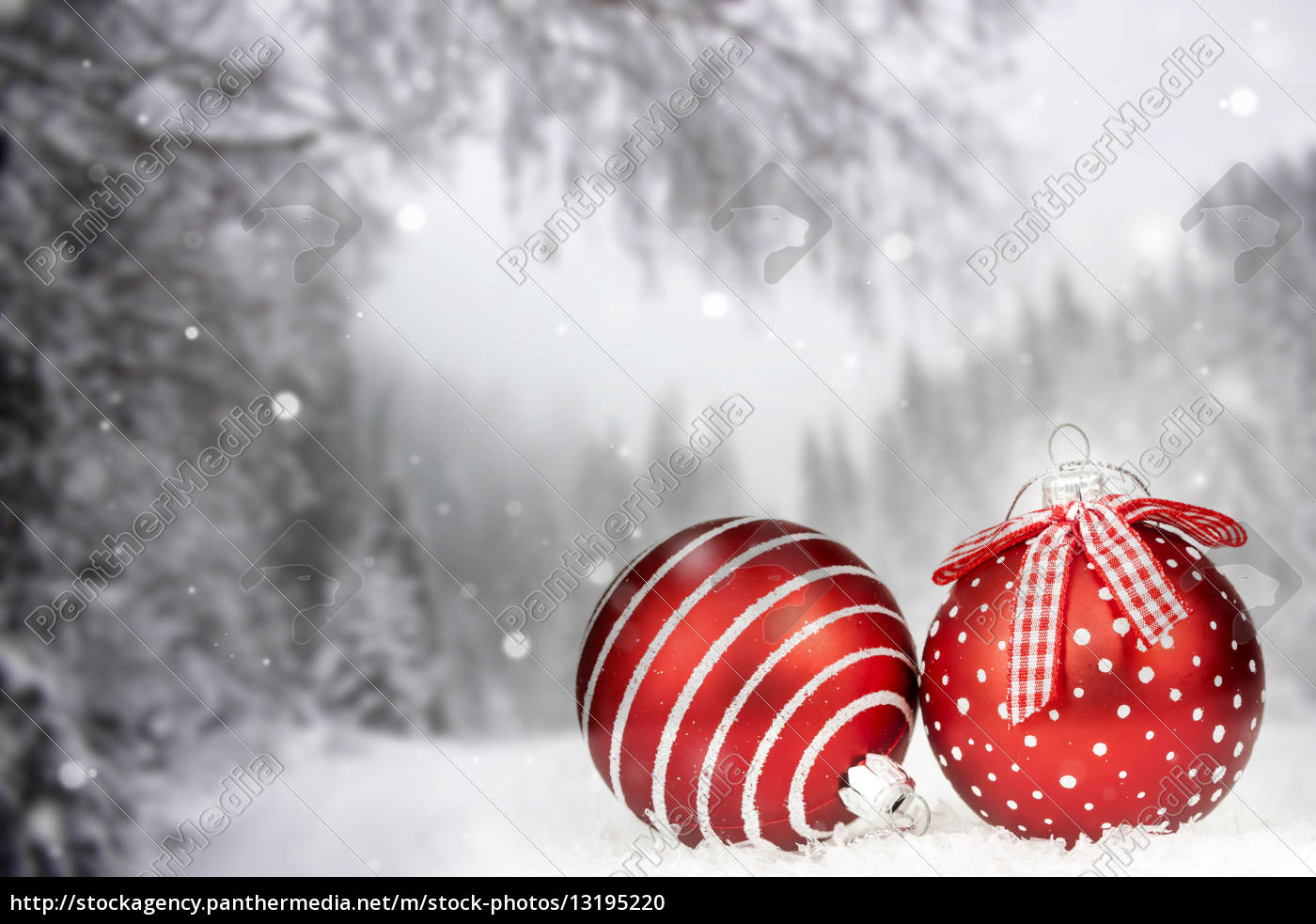 christmas, card, with, christmas, balls, and - 13195220