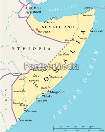 somalia politische karte
