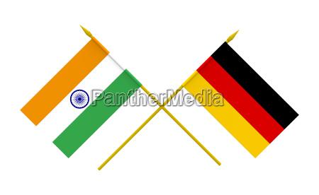 flaggen deutschland und indien